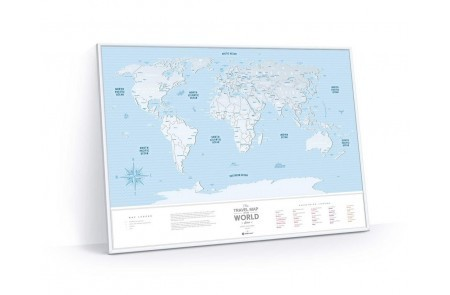 Скретч-карта мира 1DEA.me Travel Map Silver World в раме SWF