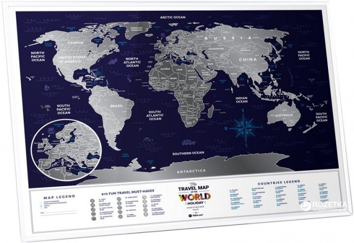 Скретч-карта мира 1DEA.me Travel Map Holiday World HW