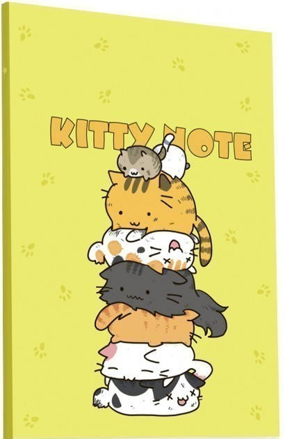 Блокнот Kitty note yellow А5