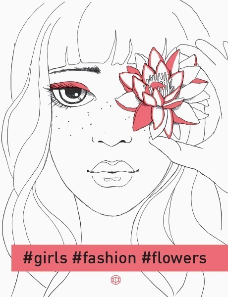 Girls. Fashion. Flowers
