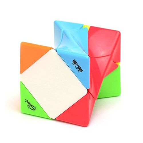 Головоломка QiYi Twisty Skewb Cube Color Скьюб Твисти