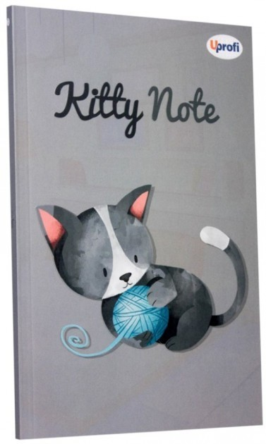 Блокнот Kitty note grey B6